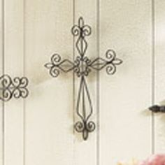 "Brown metal cross 16""L x 12""W  $3.99 for 3 days only.....visit http://cindyduke.athome.com"