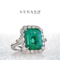 The beauty of the #emerald is evergreen. #Stunning #Lush #ForeverFashion