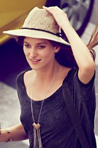 Crochet Canvas Brimmed Hat at Free...    $38.00