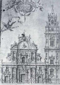 Imafronte - Dibujo de la fachada y la torre de la catedral 1897. ¿? http://www.regmurcia.com/servlet/s.Sl?sit=a,468,c,522