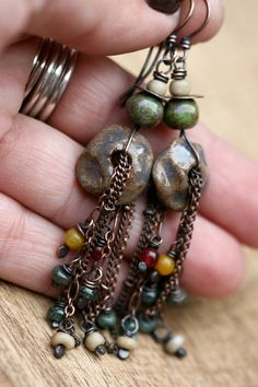 Rustic Bohemian Me with Myself Beaded Cascade by Tribalis on Etsy