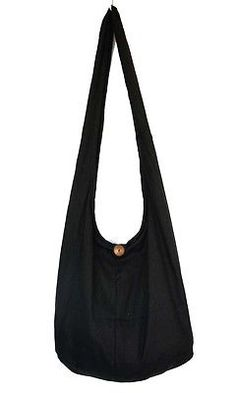 BLACK Sling Shoulder Crossbody HOBO BAG HIPPIE PURSE YAAM MONK HOT NEW UNISEX