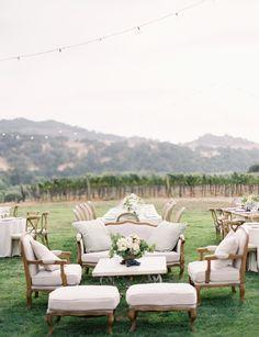 Winery Wedding - pink, peach - Jose Villa