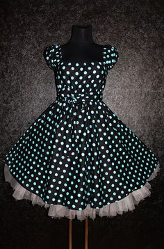 Rockabilly 50s Swing puntíky šaty Pin Up Plus marmalademoon