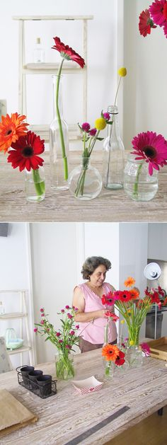 Eat Drink Chic » DIY flower arranging