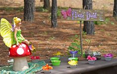 Pixie Dust station - Enchanted Fairy Birthday Party - Kara's Party Ideas - The Place for All Things Party Fairy Party Games, Fairy Tea Parties, Fairy Birthday Party, Birthday Parties, Birthday Ideas, Girl Birthday, Tea Party, Enchanted Forest Party, Enchanted Fairies