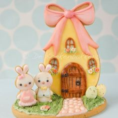 I made Mr. and Mrs. Bunny a little house to live in. Happy Friday!!
