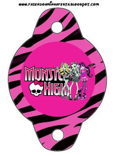Monster High Party Printables | Monster High: Party Free Printables.