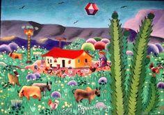 IGANCIO DA NEGA TEMA MEU BRASIL COM AJUR SP (Painting), 20x30 cm por Arte Naif AJUR SP VENDEDOR E DIVULGADOR DA ARTE NAIF BRASILEIRA