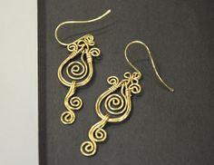 Artisan Handcrafted Brass Filigree Earrings