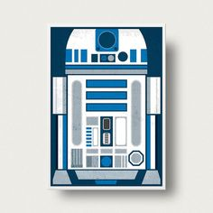 Star wars Movie Poster R2D2 posterPrint Movie by PeanutoakPrint