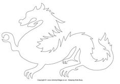 Welsh dragon pattern. Use the printable outline for crafts, creating ...