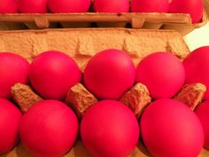 Greek Red Easter Eggs 101 - Nice explanation of the Greek tradition of dying eggs red for Easter