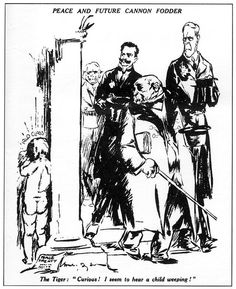 In the 'Big Three' (Lloyd-George - Britain, Georges Clemenceau - France… Fine Art Prints, Framed Prints, Canvas Prints, Modern World History, European History, Treaty Of Versailles, Make Peace, World War One, Political Cartoons