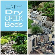 Installing a dry creek bed in your garden and yard can not only help with drainage issues but it adds a perfectly beautiful dramatic flare with little to no maintenance. The initial installation m…