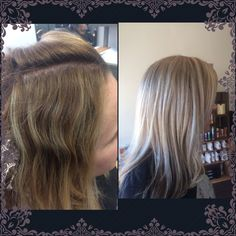 Amazing before and after by CAROLYN!! #lovewhatido #lakmeusa #beforeandafter #Monday #blonde #ice #cool #luciacsalon #highlights