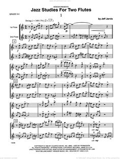 Jarvis - Jazz Studies For Two Flutes, Volume 1 sheet music [PDF] Virtual Sheet Music, Jazz Sheet Music, Sheet Music Pdf, Digital Sheet Music, Complete Music, Skyfall, Flutes, Musicals, How To Become