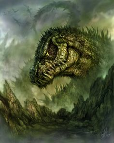 Godzilla if he ever became an old man.