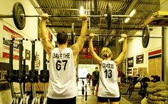 our crossfit save the dates :) 6.7.13<3  CrossFit is for lovers!  http://factumutah.com/crossfit