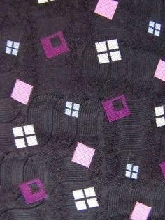 ROBERT TALBOTT Estate for Kilgore Trout Black Pink Purple Silk Power Neck Tie #RobertTalbott #Tie