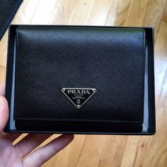 14c0dec8b87a New [Prada] wallet (black) Brand new [Prada] wallet. Comes with certificate  of authenticity. Made of Saffiano leather. Buy 3 or more items from my  closet to ...