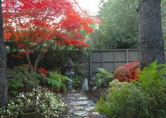 Love the fence, path, focal point, color.