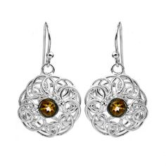 Amber Abstract Earrings
