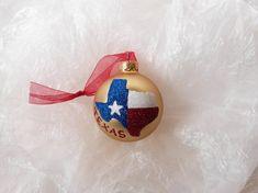 State of Texas Glitter Ornament  State Pride by GlitterOrnaments, $18.00