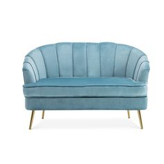Forget the weariness after a long day and indulge in complete relaxation with this soft sofa just like lounging on the clouds. Its bright colourway is sure to create smart room vibe and add some sophistication to your home. Crushed Velvet Sofa, Upholstered Dining Bench, Pink Sofa, Velvet Armchair, Modern Retro, Toss Pillows, Sofa Set, Leather Sofa, Sectional Sofa