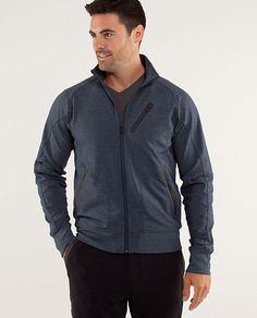 """Lululemon Trainer Jacket - just got it for my Bday, love it.  Form fits me, and is long enough for me at 6'6""""!!"""