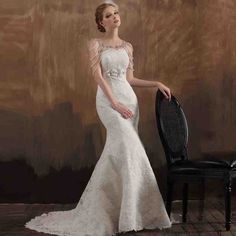 Wedding Dresses 2014 Wedding Gowns with Sleeves Page 8 New Bridal Dresses, Wedding Dress Train, Wedding Dresses 2014, Lace Mermaid Wedding Dress, Cheap Wedding Dress, Bridal Gowns, Lace Wedding, 1920s Wedding, Wedding Gowns