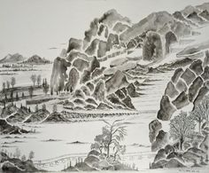"""Encre de Chine en dialogue avec le Psaume 83: """"Des chemins s'ouvrent dans leur c... #Art #Artiste"""