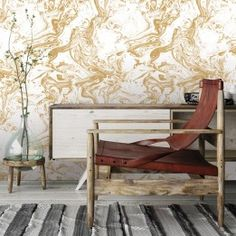 High-quality, yellow marble removable wallpaper designs by Tempaper. Simply peel and stick to your walls for the ultimate transformation. Textured Wallpaper, Fabric Wallpaper, Pattern Wallpaper, Marbling Ink, Yellow Marble, Small Space Design, Wallpaper Calculator, Design Repeats