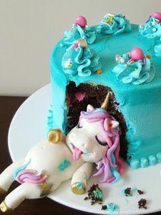 Orange cake and candied fruit - HQ Recipes Unicorn Themed Birthday, My Birthday Cake, 21st Birthday, Birthday Ideas, Cute Desserts, Novelty Cakes, Savoury Cake, Cute Cakes, Party Cakes