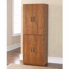 Storage Cabinet Kitchen Pantry Organizer Wood Furniture Bathroom Cupboard Shelf #Mainstays