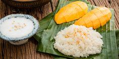 Zutaten für Mango Sticky Rice © Shutterstock.com Borneo, Mango Sticky Rice, Thai Dessert, Fresh Rolls, Tofu, Sushi, Thailand, Fruit, Ethnic Recipes