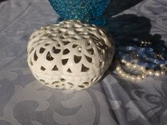 Jewelry box with lid White filigree box by RetroBuy on Etsy,