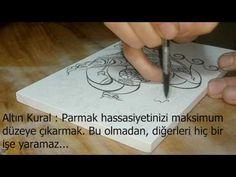 Çizim de ilk ders/fırça kullanımı - YouTube