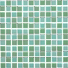 """ROCCIA supply this product. Blue and green mosaic tile. www roccia.com Tasman Mixed Glass Mosaic 24mm 1"""" Glass Tile"""