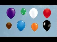 The Balloon Song (for learning colors) - YouTube  For FOUR year olds. An activity would be to sway back and forth as they feel the rhythm. A lead topic would be talking about the different colors.