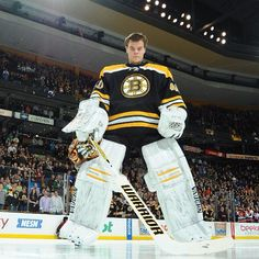 4/11/13 Tuukka Rask stares down with extreme focus during the National Anthem before the home game against the NY Islanders.