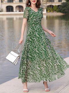 Shop Stylish Stitching High Waist Maxi Dress at EZPOPSY. Cheap Dresses, Casual Dresses, Short Dresses, Fashion Dresses, Summer Dresses, Maxi Dresses, Wedding Dresses, Classy Outfits, Beautiful Outfits