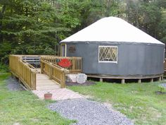 Yurt with deck/ramp access