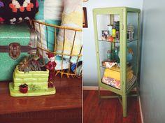 Bedroom Makeover!  Vintage inspired bedroom  Simple Splendor ikea fabrikor mint green shelf