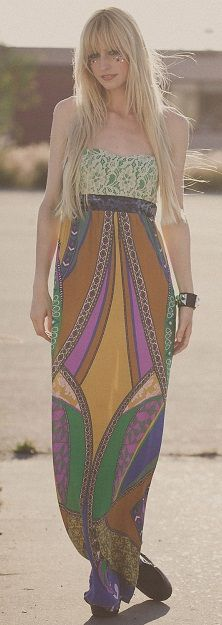 Printed Maxi Dress from Flying Tomato!