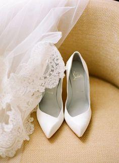 white christian louboutin wedding shoes