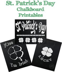 Free St. Patrick's Day chalkboard printables - and 16 other fun St. Patrick's Day projects!