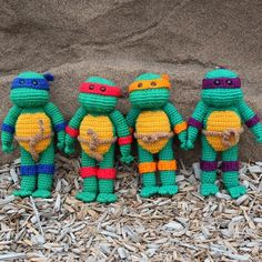 "wecrochetit:  "" Teenage Mutant Ninja Turtle  ❥ 4U // FREE PATTERN HERE  """