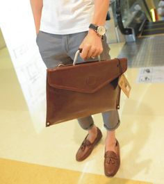 Business LEATHER Clutch LEATHER Briefcase Men by BoutiqueHouse, $34.99