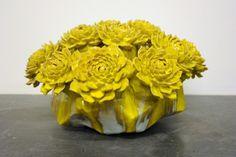 Ceramic Artist Matt Wedel, sculpture and drawings. Sculpture Clay, Sculptures, Ceramic Workshop, Ceramic Flowers, Contemporary Ceramics, Ceramic Artists, Mellow Yellow, Yellow Flowers, Installation Art